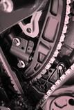 automobile engine poster