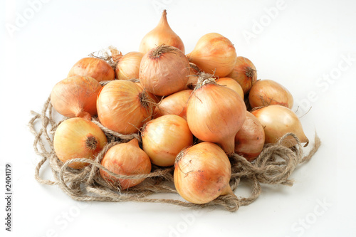 british baby onions on rope nest