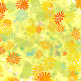 yellow gift wrap floral poster