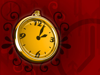 ticking clock fire version 3d render