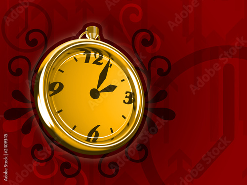 ticking clock fire version 3d render