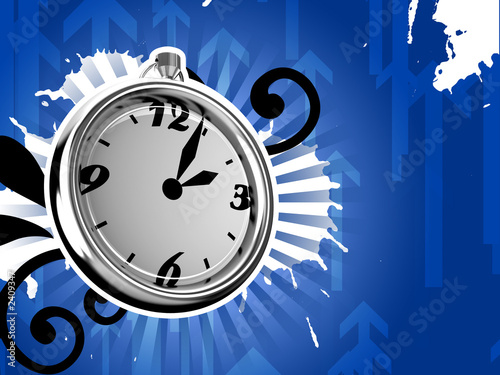 ticking clock ice version 3d render