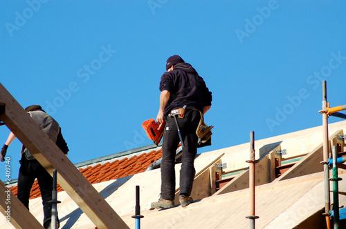 zimmermann bei der arbeit