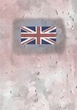 union jack card poster
