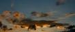 incredible evening sky panorama