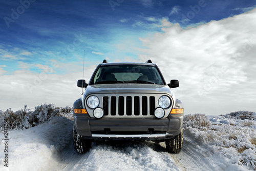 suv on snow