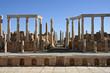 scène du théatre de lepcis-magna en libye