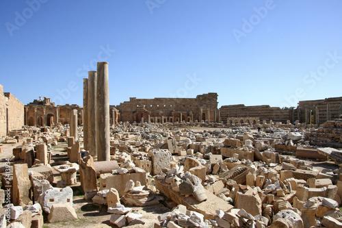 vue générale forum romain de lepcis-magna
