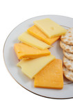 assortment of cheddar and swiss cheeses