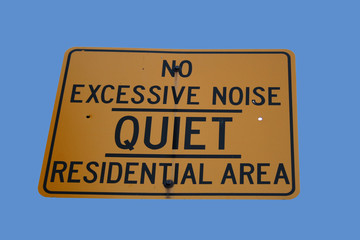 quiet residential area sign