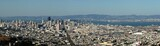 san francisco panorama from twin peaks poster