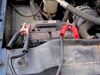 closeup of jumper cables