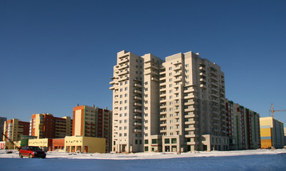 new multi-storey buildings.