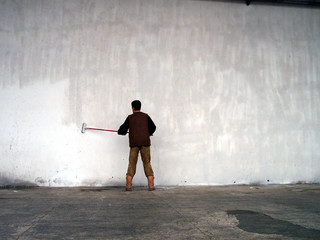 wall painting worker