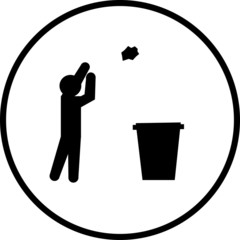 throwing trash symbol