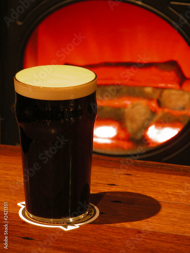 dark ale by the fire
