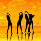women dancing on stage poster