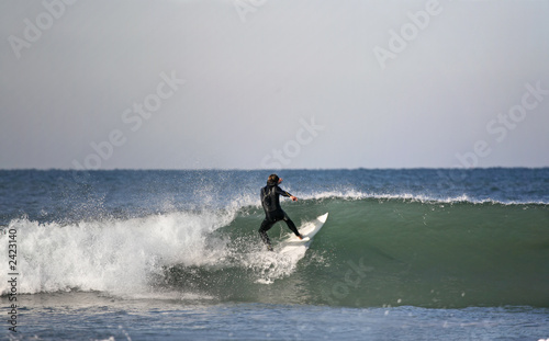 surfer preparing a floater