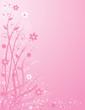 roleta: pink floral background