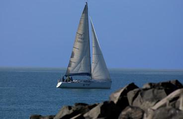 sailing in the mediterrean sea