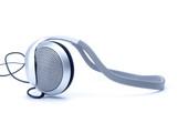 audio head-phones poster