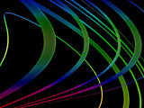 multicolored strips poster