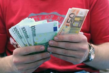 take euros