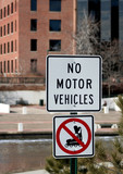 no motor vehicle and rollerblade sign poster