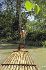 raft on river jamaica