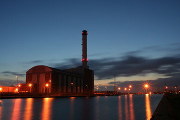 gas fired power station.