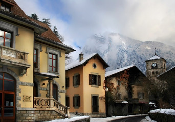 old town in alps, samoens
