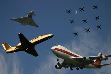 very crowded skies