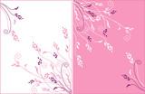 gentle flower vector ornament poster