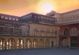 indian muslim palace (jaipur) poster