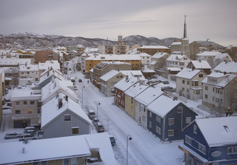 """day"" at winter north of the polar circle"