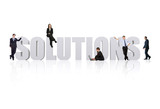business solutions poster