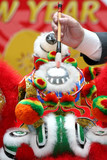 eye dotting ceremony for lion dancing poster