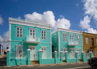 colorful house in the caribbean