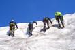 bergsteiger / eisklettern