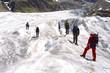 seilschaft auf dem gletscher