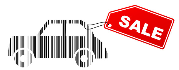 barcode car with sale label