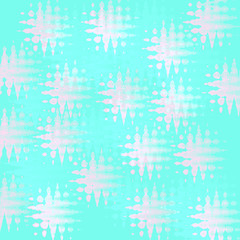 pattern on teal gift wrap