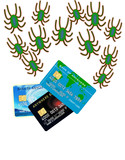 credit card attacked by bugs poster