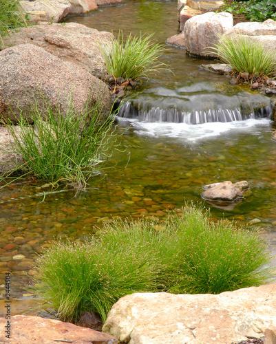 ogród skalny i strumień