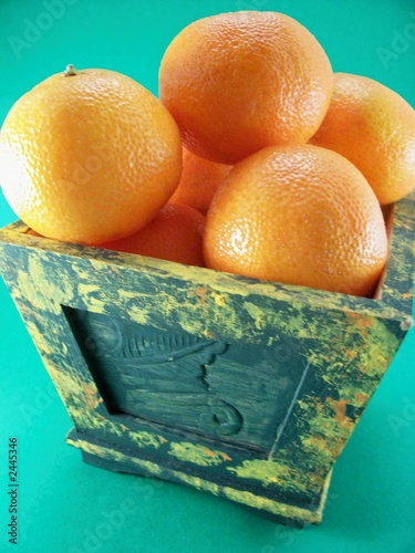 orange basket arrangement