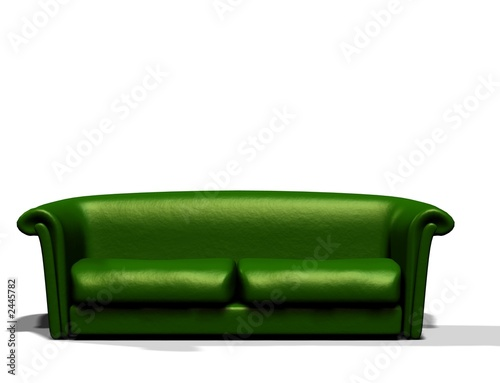 gr nes sofa von angie lingnau lizenzfreies foto 2445782 auf. Black Bedroom Furniture Sets. Home Design Ideas