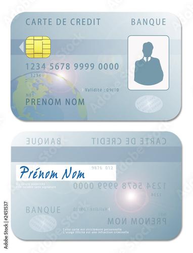 Carte de cr dit recto verso photo libre de droits sur la banque d - Report de paiement de 3 mois par cb ...