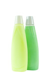 two bottles of green shampoo poster