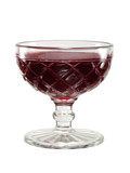 red jelly in a vintage glass bowl poster