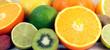 orange limette kiwi